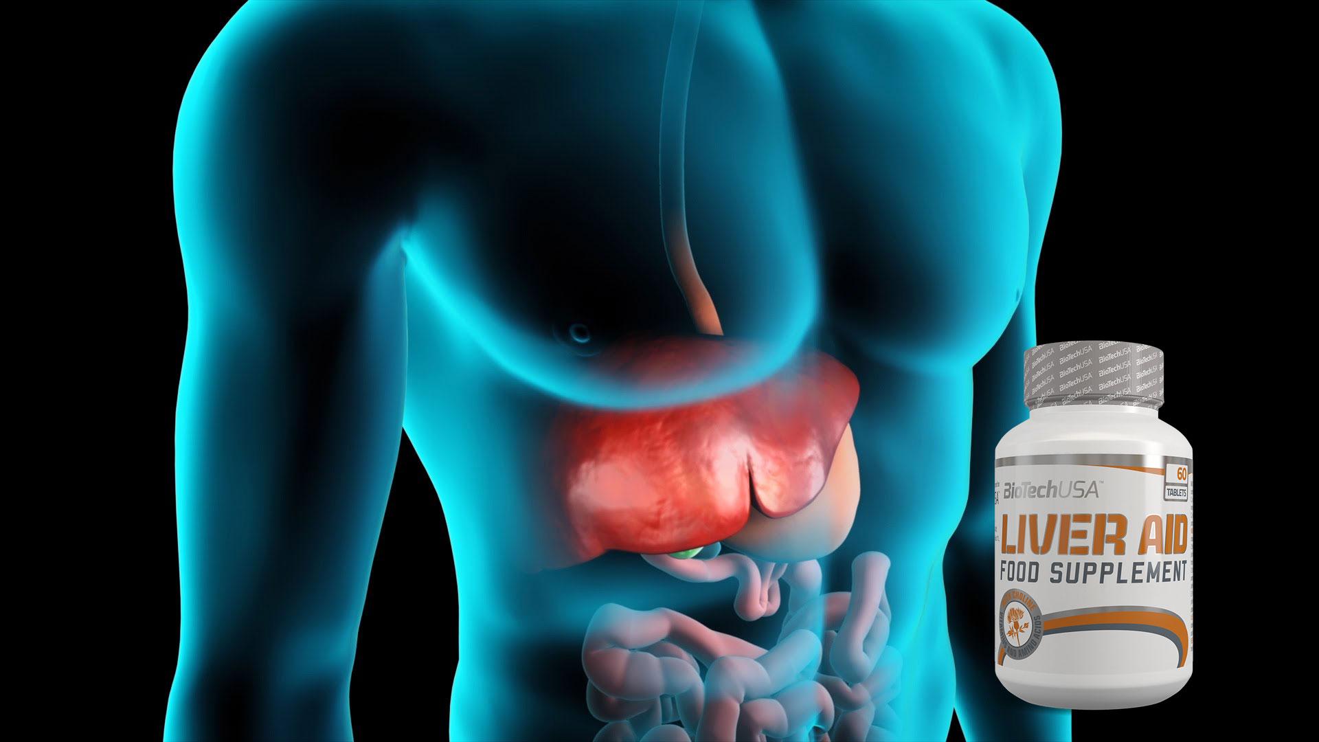 Viên Uống Mát Gan Giải Độc Liver Aid BiotechUSA Hộp 60 Viên