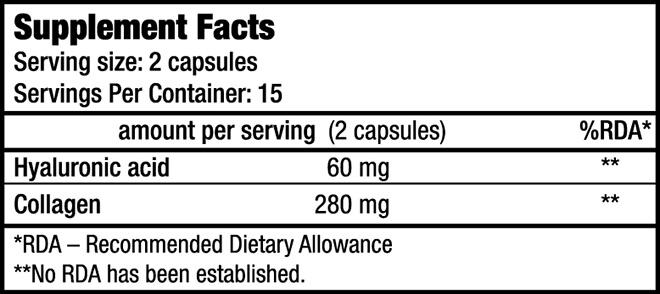 Viên Uống Bổ Sung Collagen Và Hyaluronic BiotechUSA Hộp 30 Viên