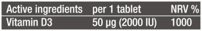 Thành phần dinh dưỡng Viên của viên uống Vitamin D3 BiotechUSA Xuất Xứ Châu Âu