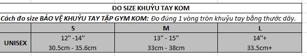 hướng dẫn đo size khuỷu tay KOM