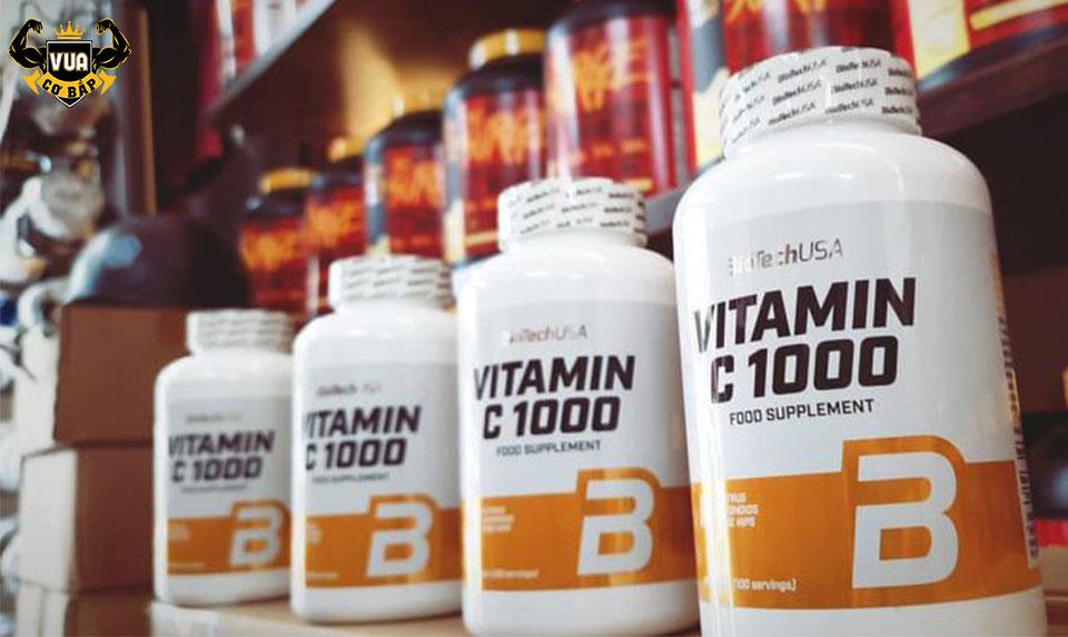 Viên Uống Vitamin C 1000 BiotechUSA Hộp 250 Viên-vuacobap.com